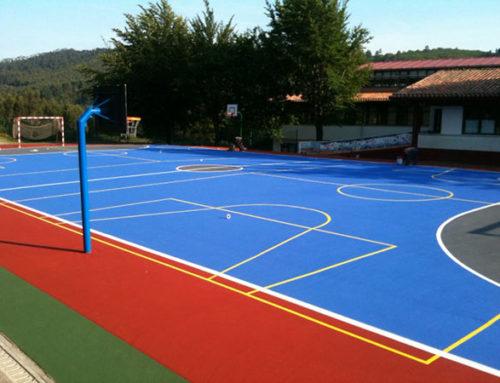 Pavimentación de suelos deportivos