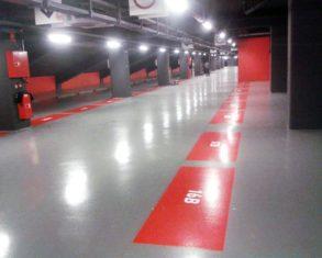 Pavimentación parking San Mamés