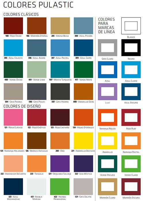 colores pulastic
